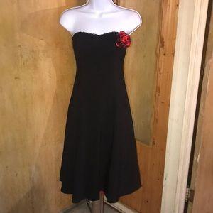 Ruby Rox Size 3 Formal Strapless Midi Black Dress
